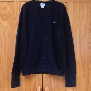 Lacoste Black New Wool Grandpa Knit Cardigan 6